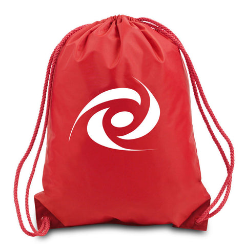 Gamma Labs Cinch Bag - White on Red
