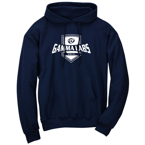 Gamma Labs Crest Hoodie - Wht on Nvy
