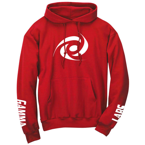 Gamma Labs Icon Hoodie - Wht on Red