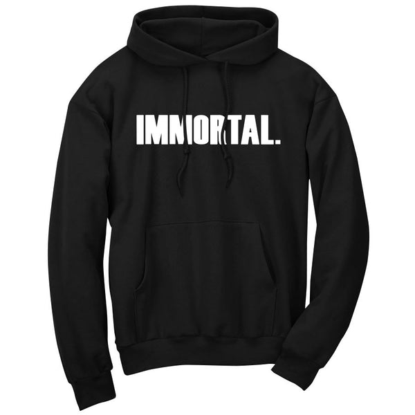 Gamma Labs Immortal Hoodie - Wht on Blk
