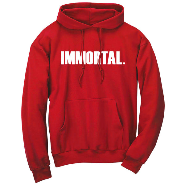 Gamma Labs Immortal Hoodie - Wht on Red