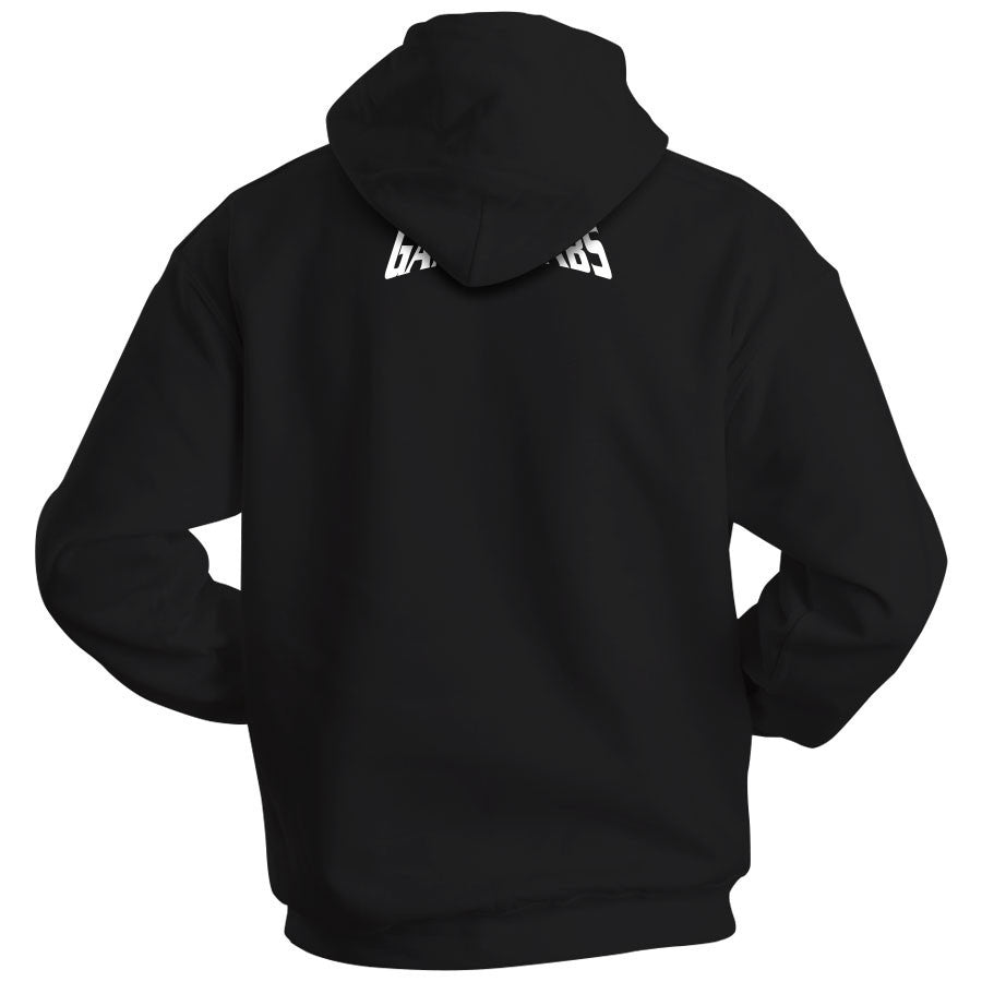 Gamma Labs Aesthetic Hoodie - Wht on Blk