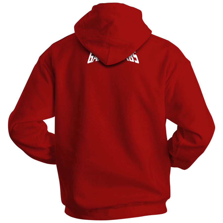 Gamma Labs LMA Hoodie - Wht on Red
