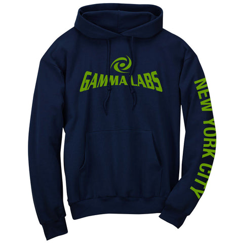 Gamma Labs Logo NYC Hoodie - AGrn on Nvy