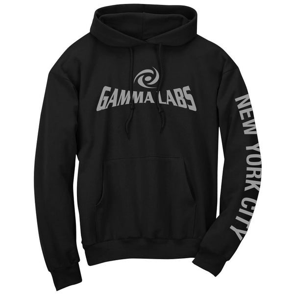 Gamma Labs Logo NYC Hoodie - Gry on Blk