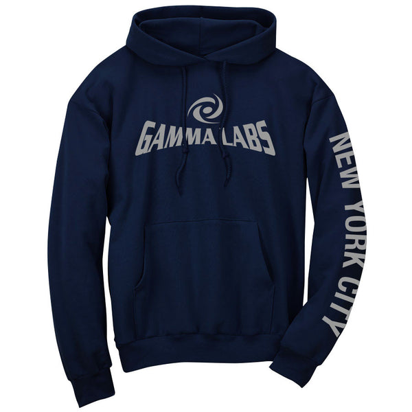 Gamma Labs Logo NYC Hoodie - Gry on Nvy