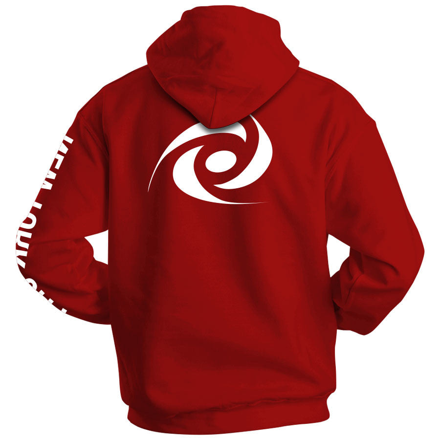 Gamma Labs Logo NYC Hoodie - Wht on Red