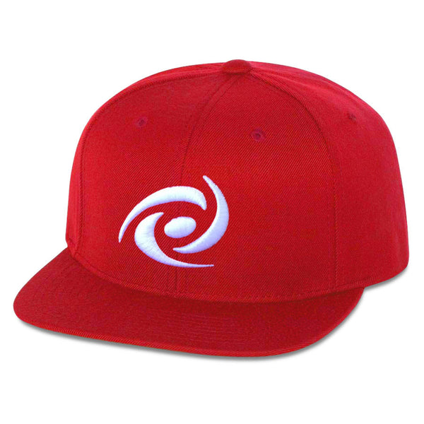 Gamma Labs 6 Panel Snapback Hat - Wht on Red