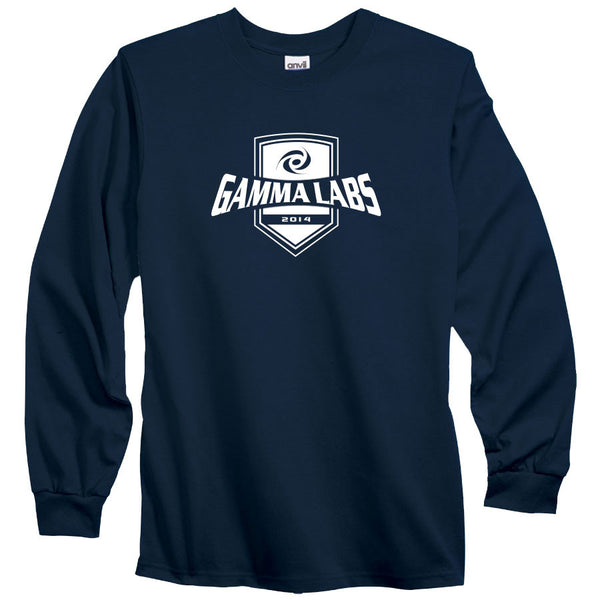 Gamma Labs Crest Long Sleeve - Wht on Nvy