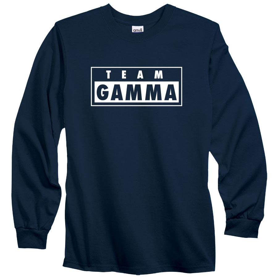 Gamma Labs Team Gamma Long Sleeve - Wht on Nvy