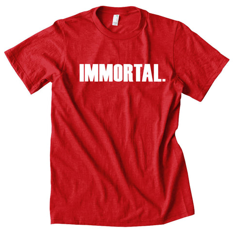 Gamma Labs Immortal Short Sleeve - Wht on Red