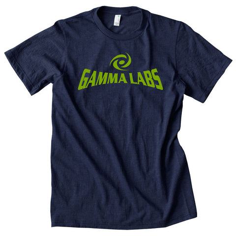 Gamma Labs Logo Short Sleeve - AGrn on Nvy