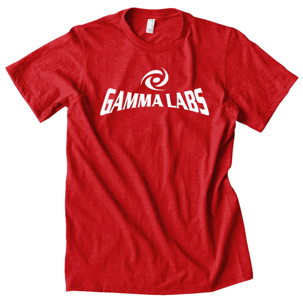 Gamma Labs Logo Short Sleeve - Wht on Red