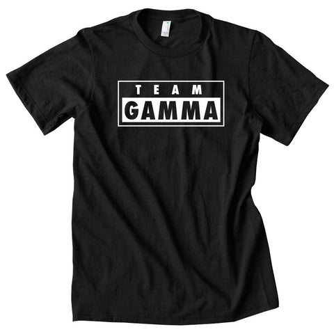 Gamma Labs Team Gamma Short Sleeve - Wht on Blk