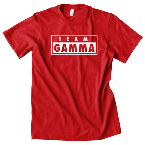 Gamma Labs Team Gamma Short Sleeve - Wht on Red
