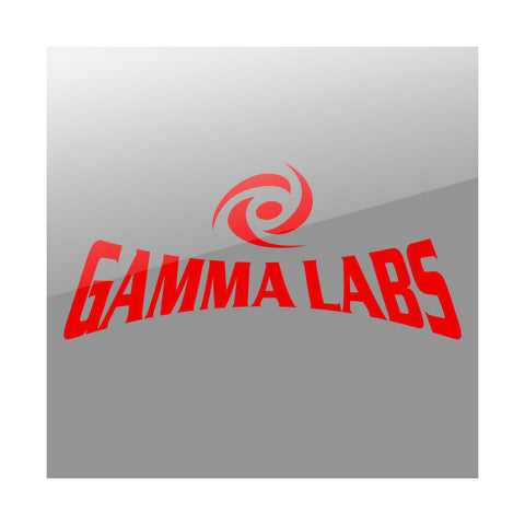 "Gamma Labs 11"" Combo Vinyl Sticker - Red"