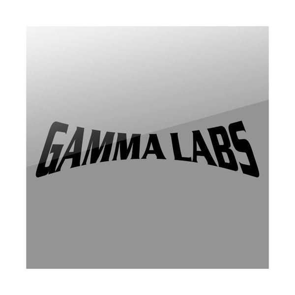 "Gamma Labs 11"" Logo Vinyl Sticker - Black"