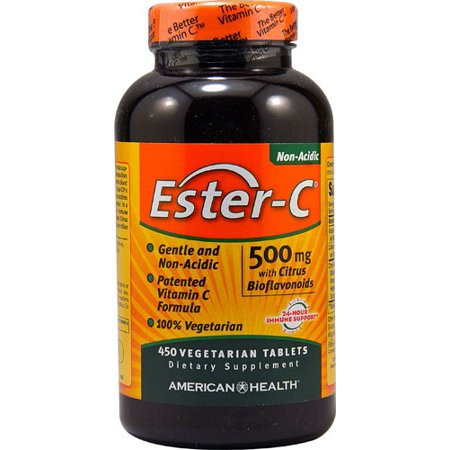American Health Ester-C 500 mg with Citrus Bioflavanoids 450 Vegetarian Tablets