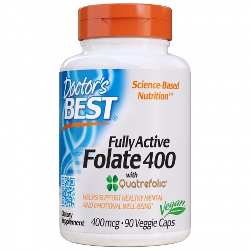 Doctors Best Fully Active Folate 400mcg 90 Veggie Caps