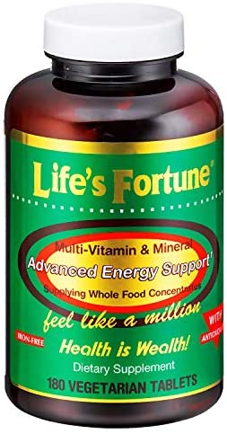 Life's Fortune Multi-Vitamin & Mineral 180 Vegetarian Tablets
