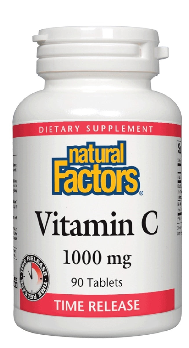 Natural Factors Vitamin C 1,000 mg 90 Tablets Time Release