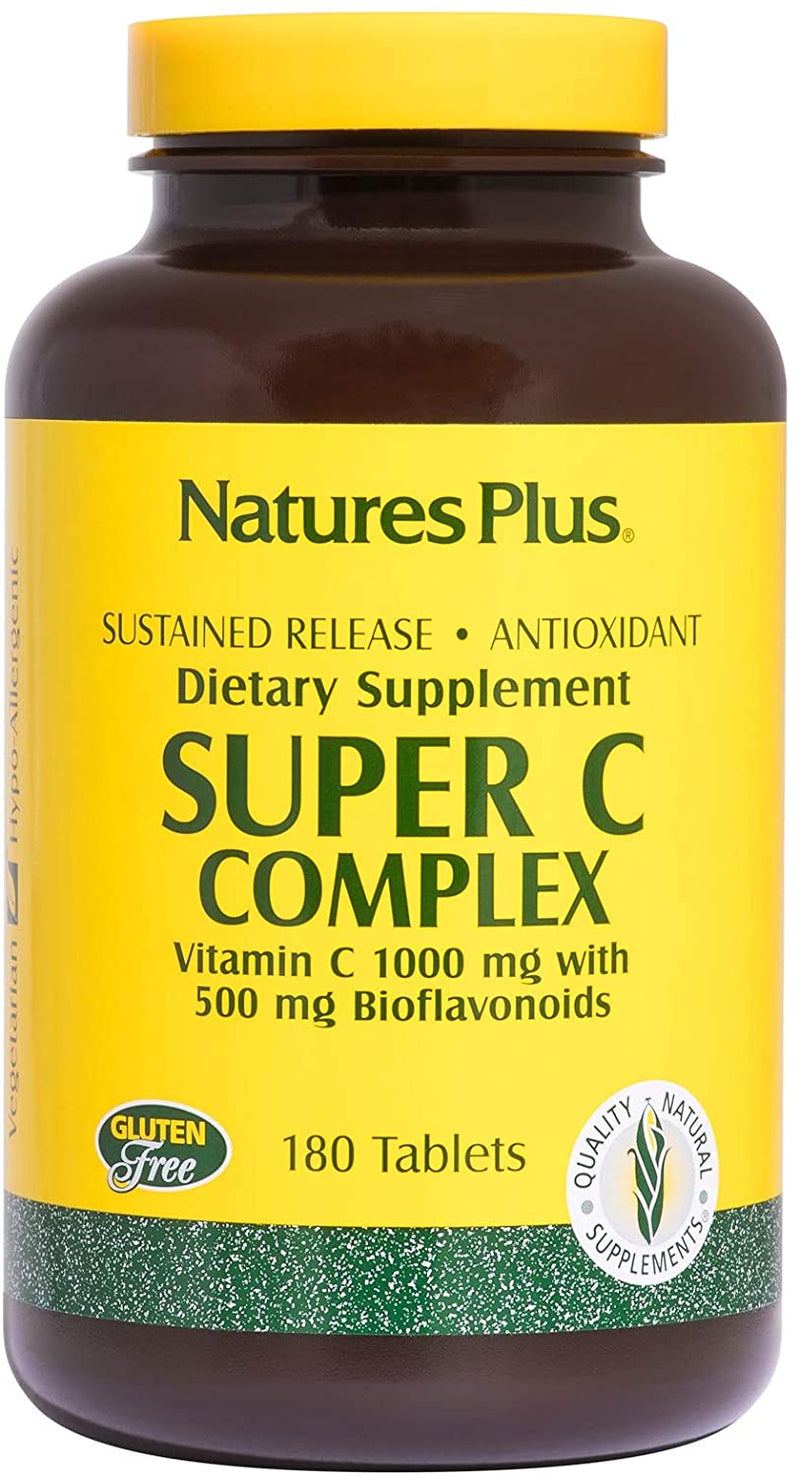Natures Plus Super C Complex 180 Tablets