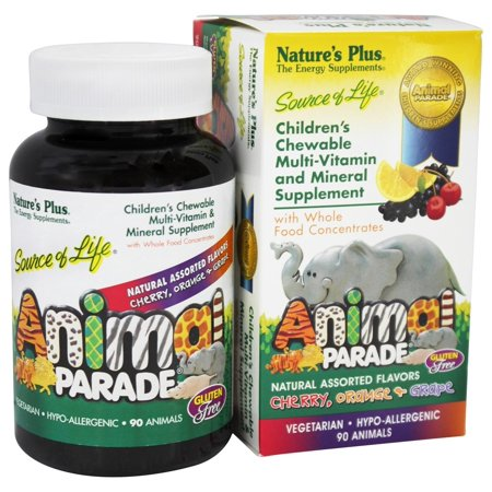 Natures Plus Animal Parade 90 Animal Shaped Tablets