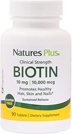 Natures Plus Biotin 10,000 mcg 90 Tablets