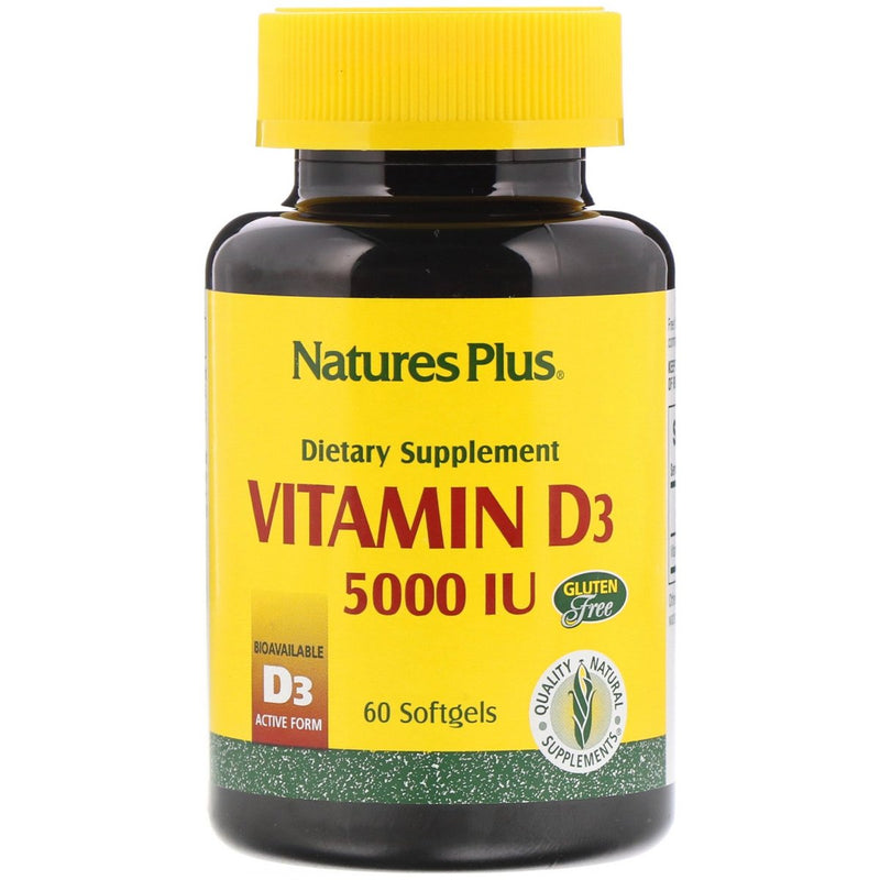 Natures Plus Vitamin D3 5,000 60 Softgels