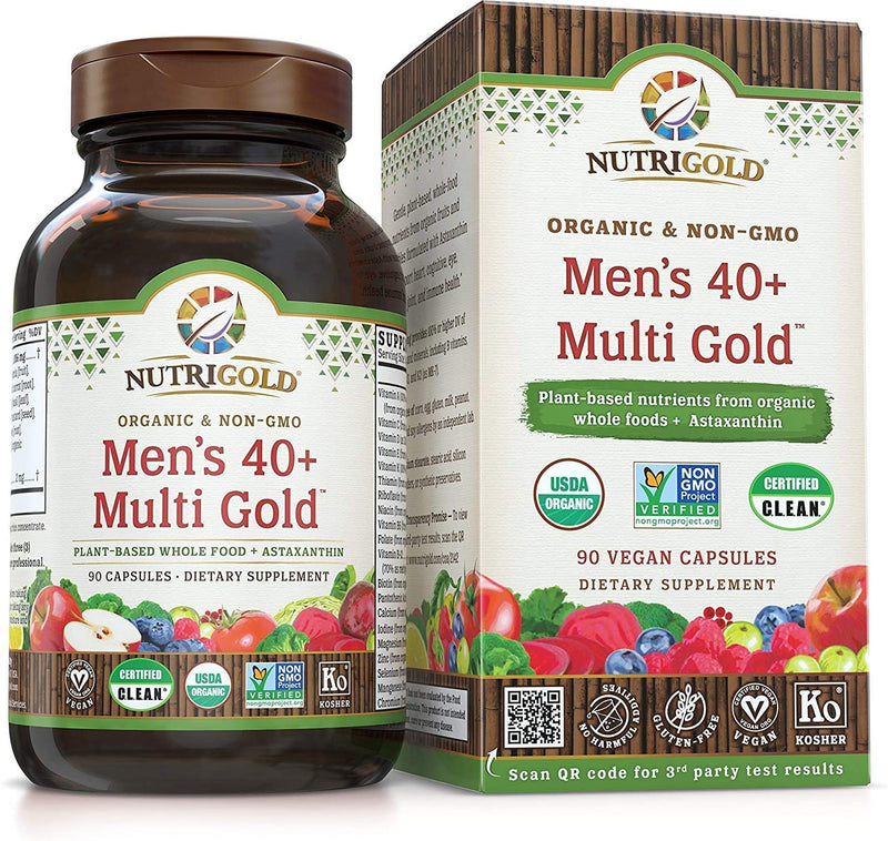 NutriGold Men's 40+ Multi Gold 90 Caps