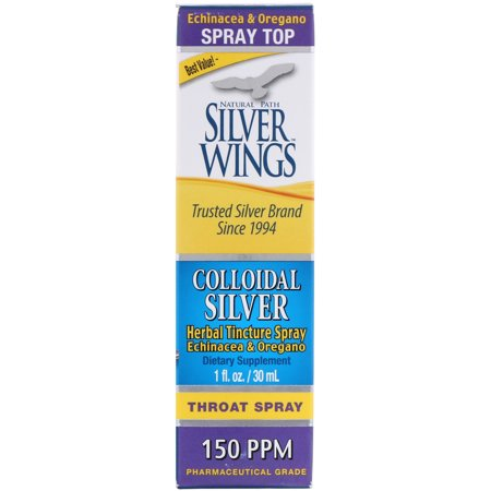 Silver Wings Colloidal Silver 1 oz 150 PPM Throat Spary