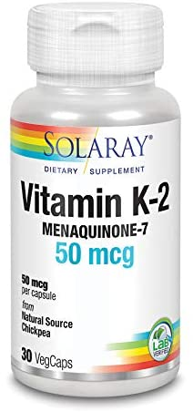 Solaray Vitamin K-2 50 mcg 30 VegaCaps