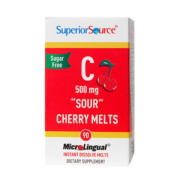 Superior Source Vitamin C 500 mg Cherry Melts 90 Instant Dissolve Melts