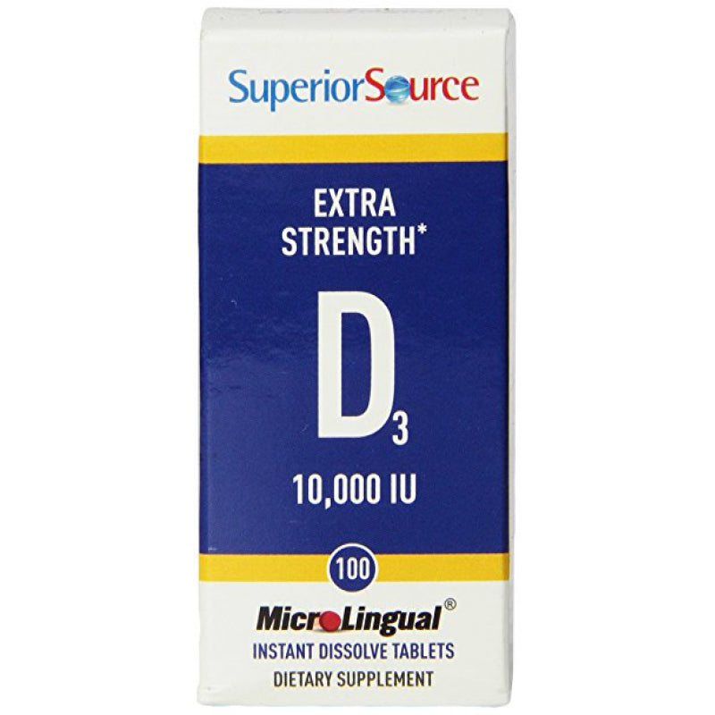 Superior Source D3 10,000 100 Dissolve Tablets