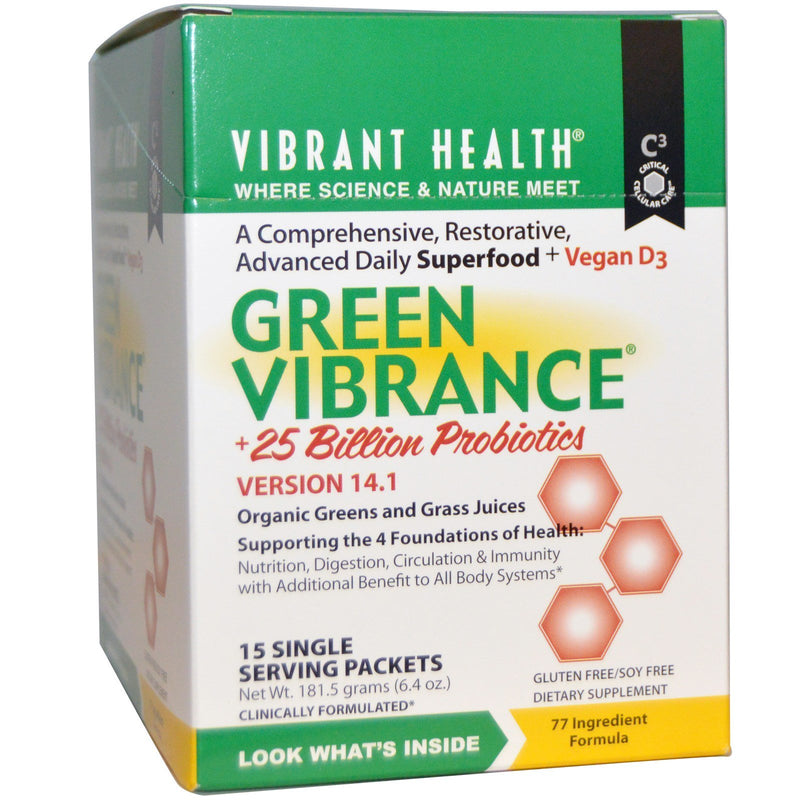 Vibrant Health Green Vibrance 15 TO GO PACKETS