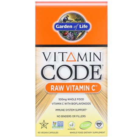 Garden of Life Vitamin Code Raw Vitamin C 60 Vegan Caps