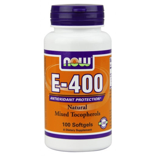 Now E-400 with Mixed Tocopherols 100 Softgels
