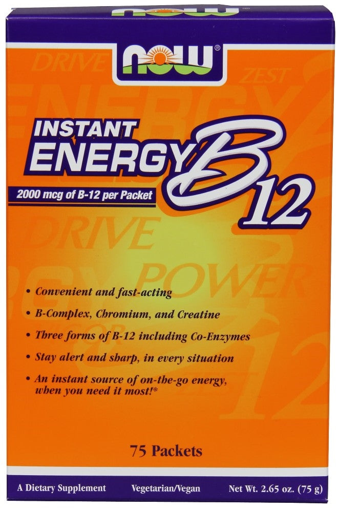 Now Instant Energy B12 2000 mcg 75 Packets