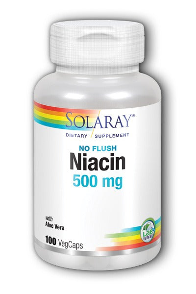 Solaray No Flush Niacin 500 mg 100 VegCaps