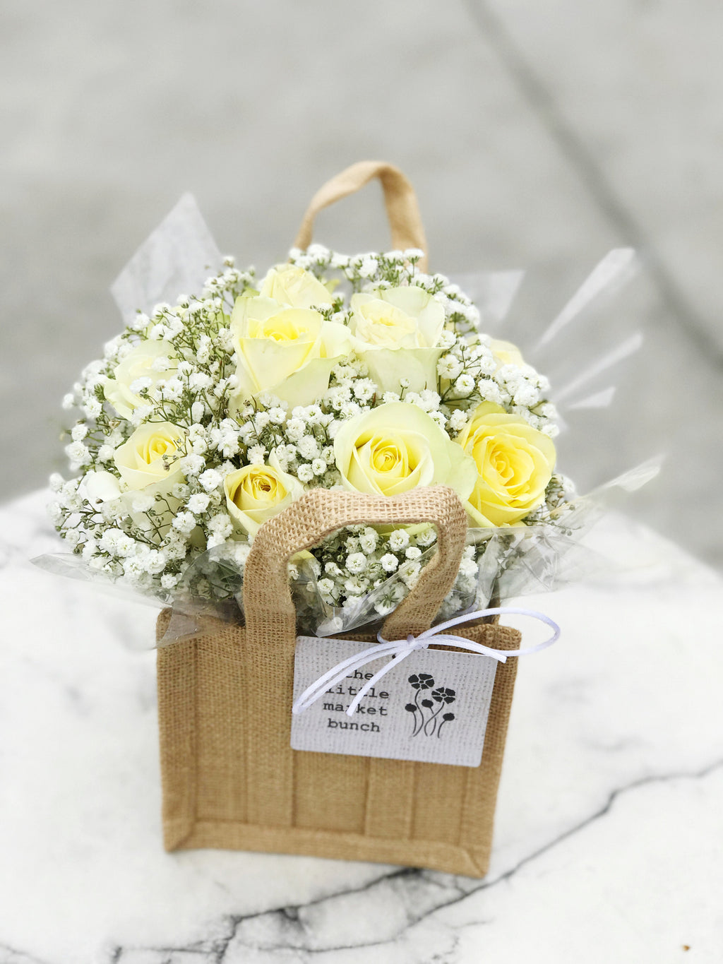 The little market bunch funeral Sympathy Rose bag