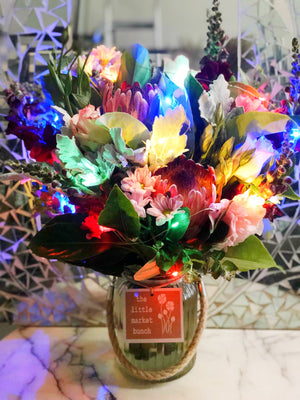 The Little Market Bunch Fairy Light Jar