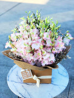 The little market bunch Fairy light pink orchid box