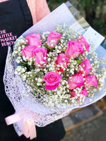 The Little Market Bunch Fairy Light Mix Rose bouquet