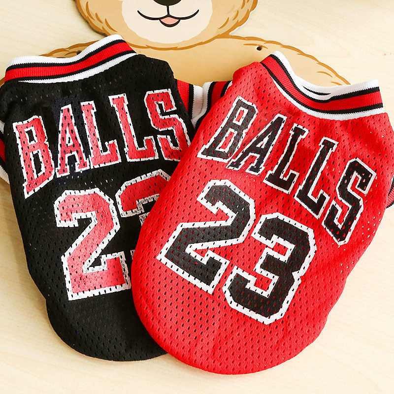 New Pet Dog Clothes Summer Sports Dog Vests Mesh Pet Dog Basketball Team Uniform Shirts for Chihuahua size XXS-L Pet Products