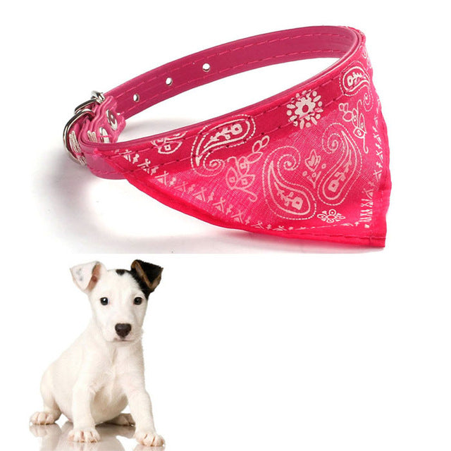 Dog Collar Neckerchief Cute Adjustable Small Dog Collars Puppy Pet Slobber Towel Outdoor Cat Collar Print Scarf Design #W3