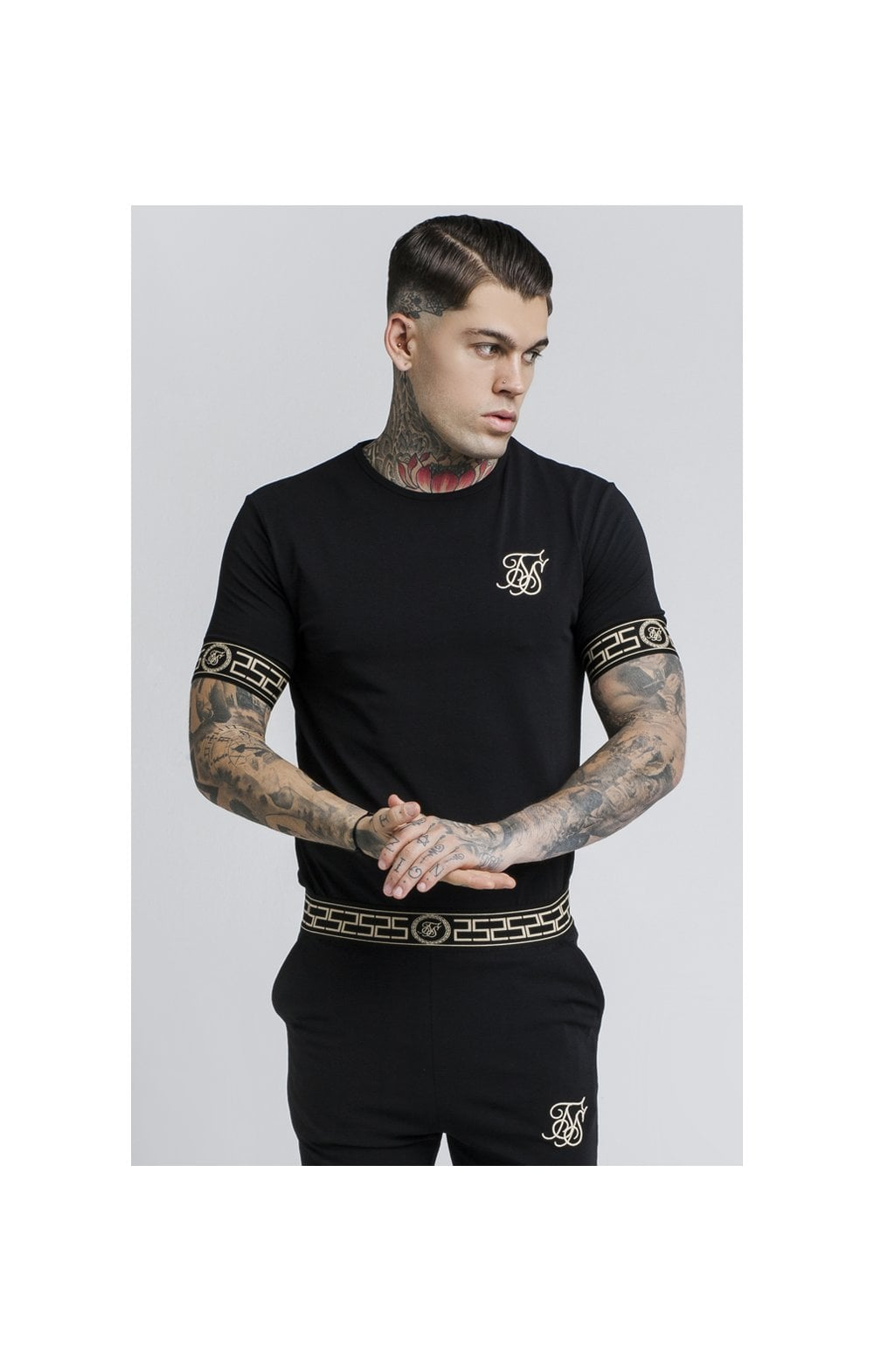 SikSilk Cartel Lounge Tee – Black (1)