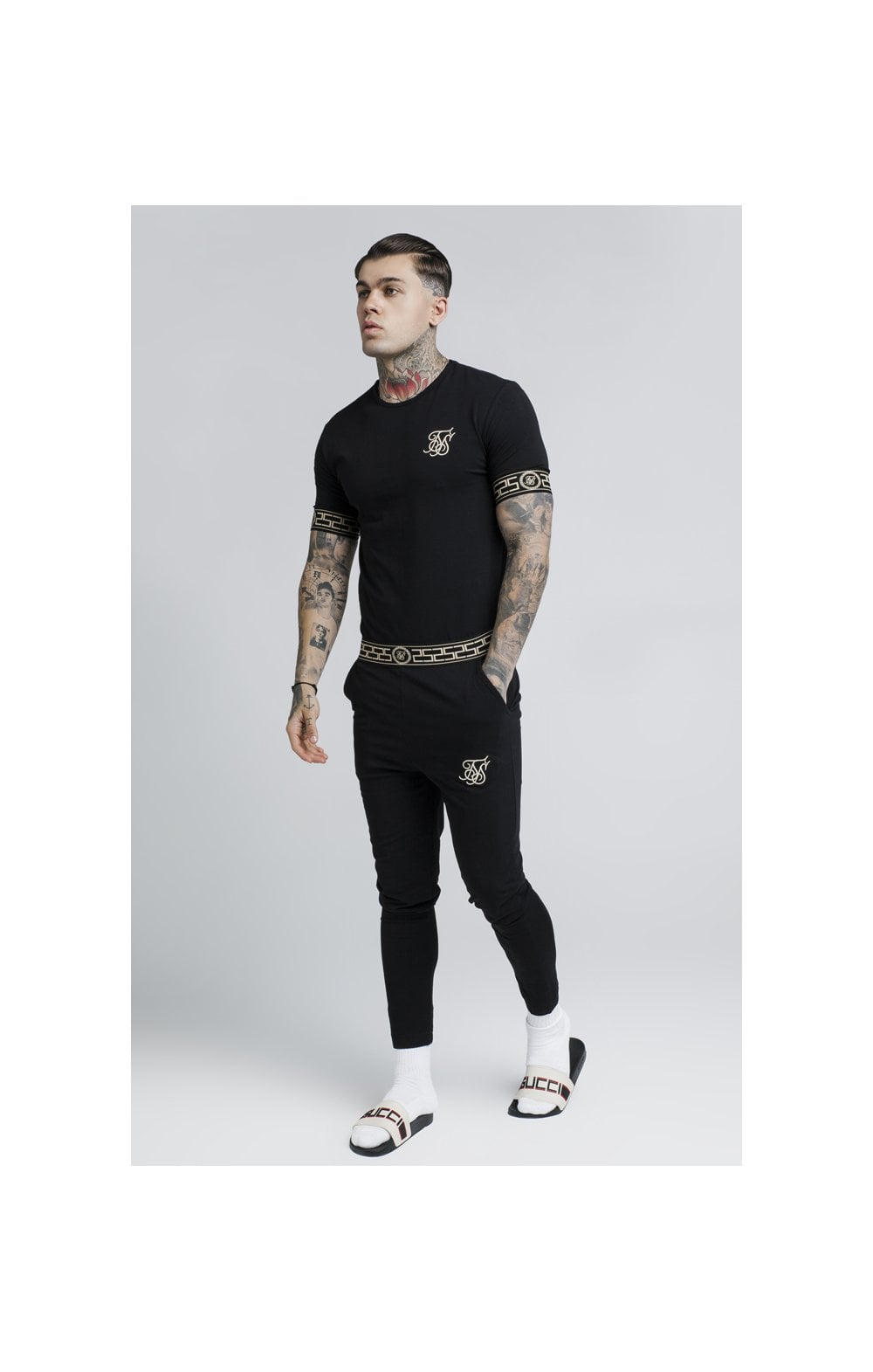 SikSilk Cartel Lounge Tee – Black (3)