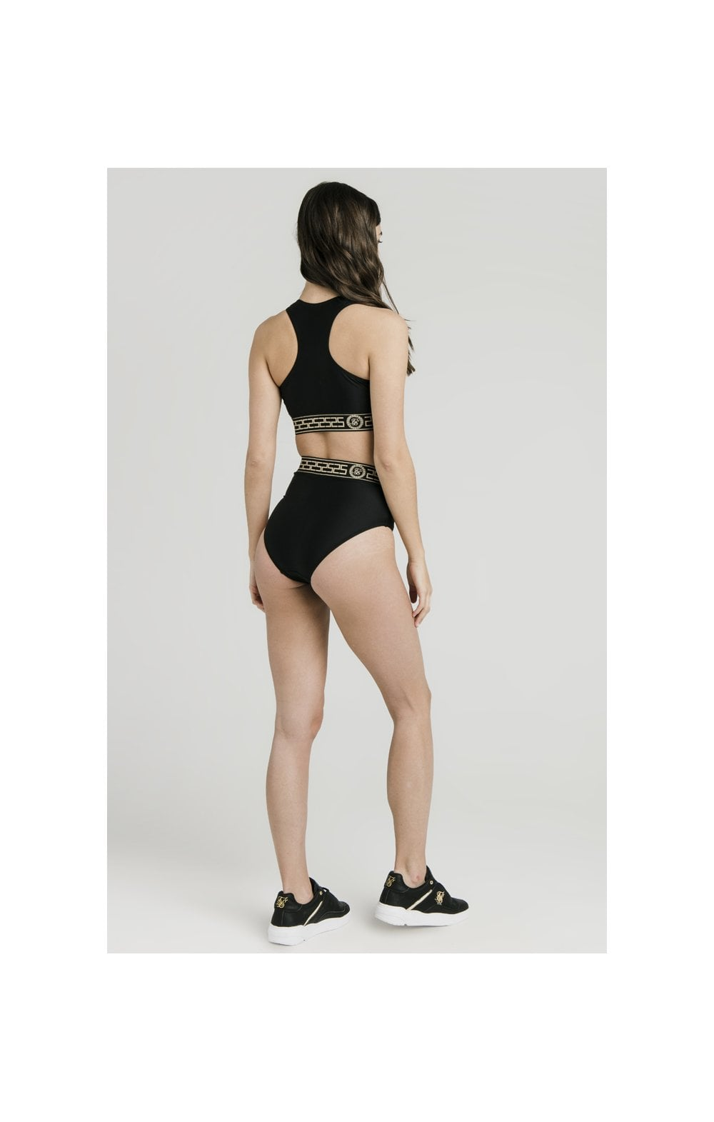 Laden Sie das Bild in den Galerie-Viewer, SikSilk Athene Bikini Bottom Hoch Size - Schwarz (4)