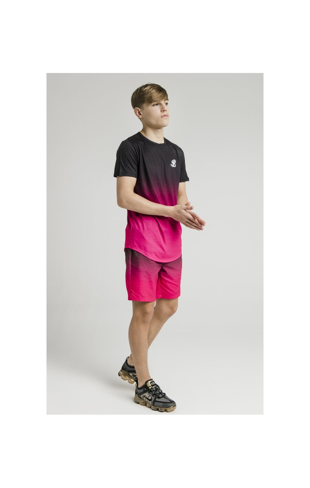 Illusive London Swim Shorts - Black & Pink (6)