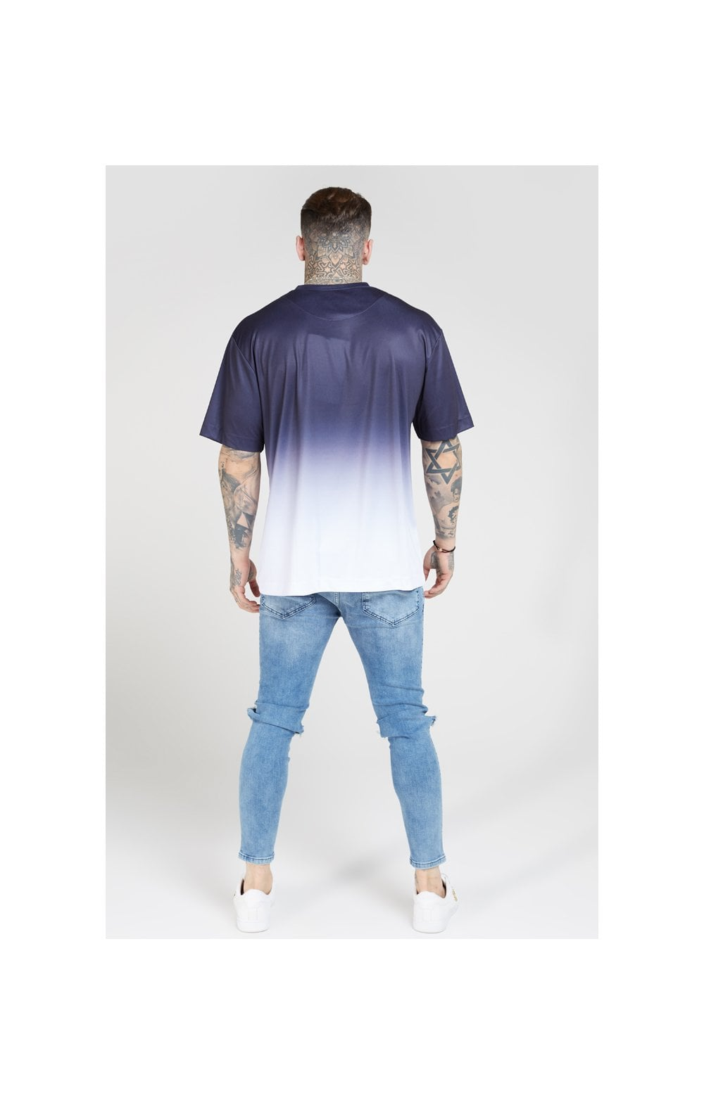 SikSilk S/S Essential Tee - Navy & White (4)